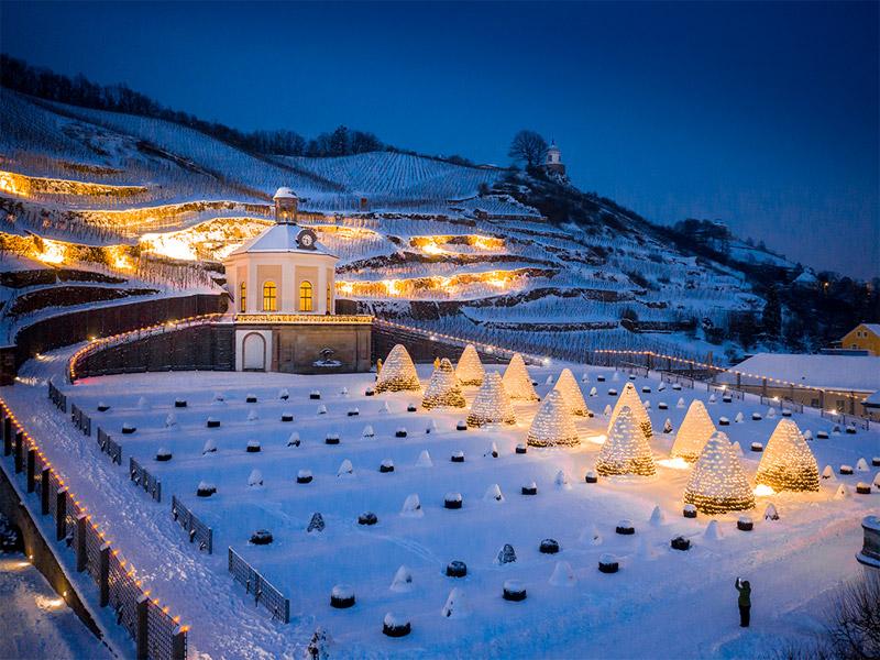 Schloss Wackerbarth im Winter
